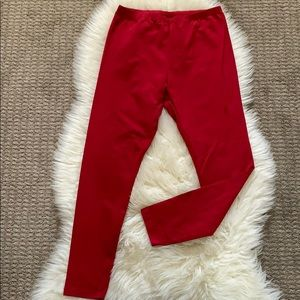 Red Style & Co leggings size M, New without tags